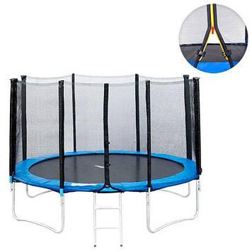 Батут с защитной сеткой и лестницей диаметр 427 см Детский батут Батут для детей