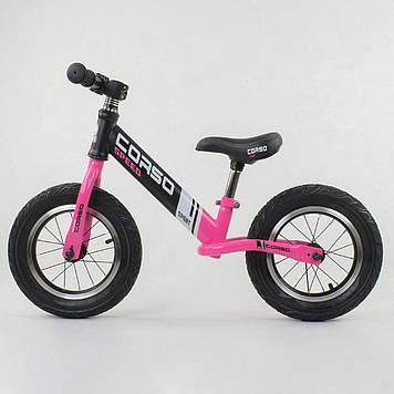 Велобег с надувными колесами Corso Беговел для девочки от 2-х лет Легкий детский велобег с надувными колесами