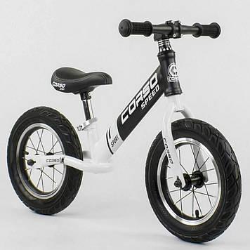 Беговел Corso стальная рама, надувные колеса, колесо 12 дюймов Беговел детский Беговел для прогулок
