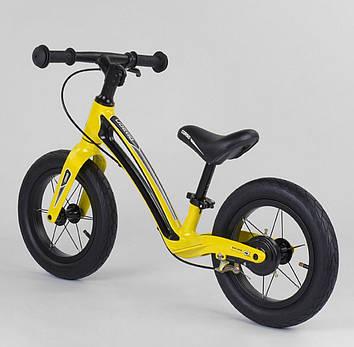 Детский велобег желтый  Велобег для девочки Велобег для мальчика Беговел для ребенка от 2-х лет
