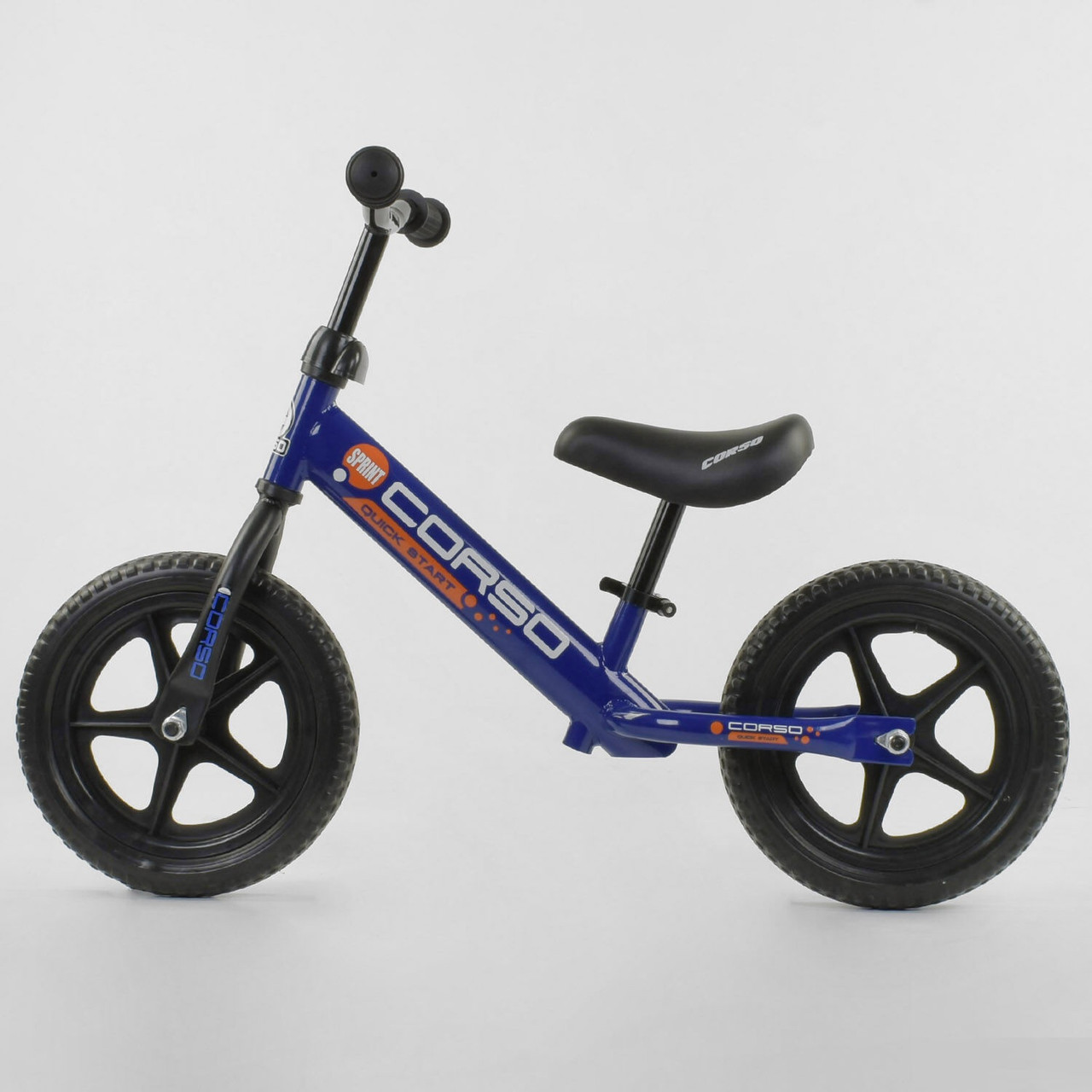 Беговел синий велобег для мальчика от 2-х лет Легкий беговел для ребенка 12 дюймов