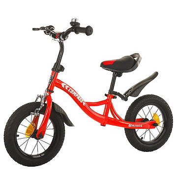 Беговел с надувными резиновыми колесами 12 Детский беговел Беговел для мальчика Беговел для девочки