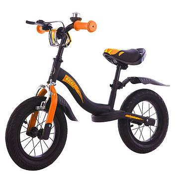 Детский велобег  оранжевый Легкий детский беговел для мальчика от 3-х лет Беговел для прогулок