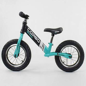 Беговел с надувными колесами Corso 88671, стальная рама  Велобег для мальчика Велобег для девочки