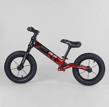 Велобег для ребенка  черно-красный  Детский велобег Беговел для мальчика от 3-х лет Беговел для девочки