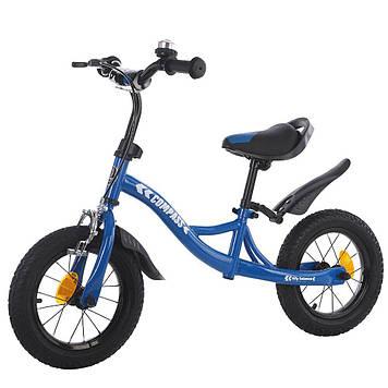 """Детский велобег 12"""" Беговел спередним ручным тормозом Детский беговел"""