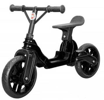 Складной велобег байк с мягким сиденьем, максимальная нагрузка до 30 кг Черный велобег