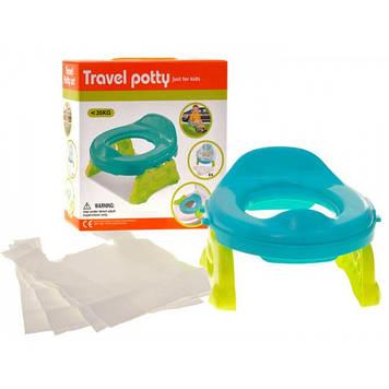 Детский дорожный горшок для мальчика Горшок детский в путишествие Детский горшок с сидением на унитаз