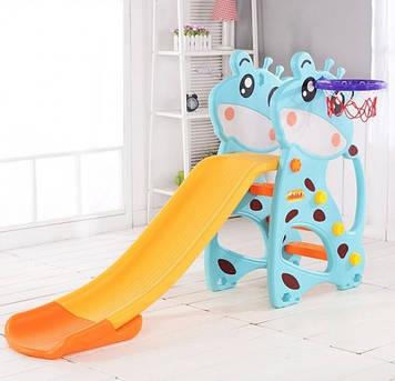 Игровая горка Пластиковая детская горка для дома Горка с пластика для игр на улице Пластиковая горка для детей