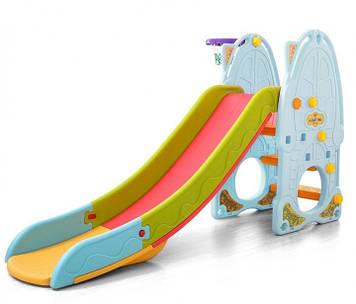 Горка пластиковая разборная Пластиковая горка Горка для детей от 2х лет Горка детская с бортиками безопасности