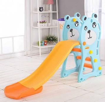 Детская разноцветная горка Пластиковая горка для игр Горка из пластика для детей Горка для деток от 2-х лет