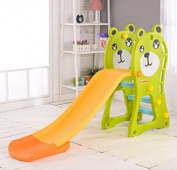 Детская разноцветная горка Пластиковая горка для игр Горка из пластика для детей Горка в виде мишки