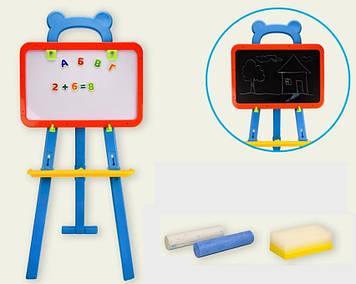 Разборной мольберт детский Двусторонняя магнитная доска Мольберт для рисования с магнитными буквами и цифрами
