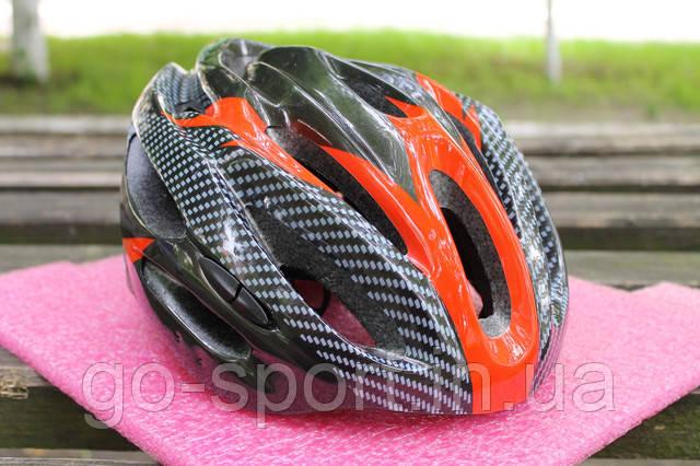 Шлем велосипедный Carbon red