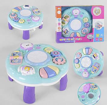 Красочный игровой развивающий столик для детей от года на украинском языке Игровой детский стол