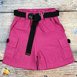 """Дитячі шорти """"Льон"""" для дівчинки Розміри: 5,6,7,8 років (01921-2)"""
