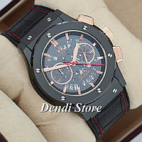 Часы Hublot Fusion Chrono Aero Ring Black-Black-Gold AAA