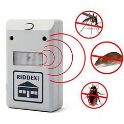 Электромагнитный ультразвуковой отпугиватель грызунов и насекомых Riddex в розетку, белый