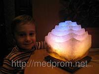 Соляная лампа Пагода 3-4 кг цветная