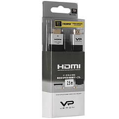 Кабель Veron HDMI Slim High-Speed with Ethernet V2.0 2.5 м, черный