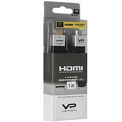 Кабель Veron HDMI Slim High-Speed with Ethernet V2.0 1 м, черный