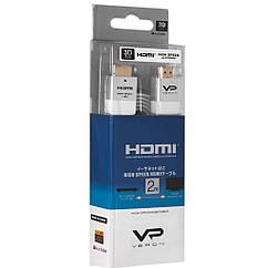 Кабель Veron HDMI Slim High-Speed with Ethernet V2.0 2 м, белый