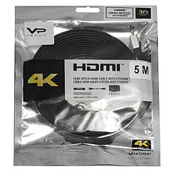 Кабель Veron HDMI Slim High-Speed with Ethernet V2.0 5 м, черный