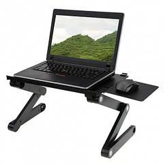Столик для ноутбука с охлаждением Laptop Table T8, черный
