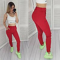 Стильні жіночі брюки, арт 1009, колір червоний
