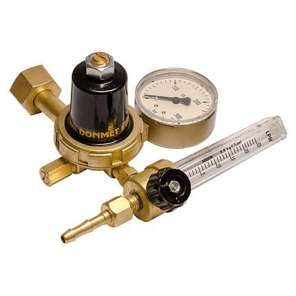 Регулятор расхода аргон/углекислота с ротаметром RAr/CO-200-2 DM Донмет, фото 2