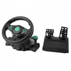 Игровой мультимедийный универсальный руль Vibration Steering Wheel PS3/PS2/PC/USB