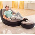 ОПТ Надувне вінілове крісло з пуфом Intex Air Sofa з флокированним покриттям і насосом, фото 7