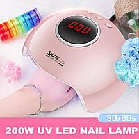 Лампа УФ для сушки ногтей SUN X28 LED лампа для маникюра и педикюра гель лака