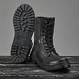 Берцы черные кожаные летние, фото 3