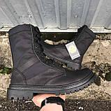 Берцы черные кожаные летние, фото 4