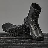 Берцы летние с быстрой шнуровкой черные, фото 2