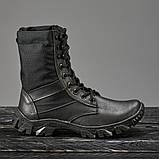 Берцы летние с быстрой шнуровкой черные, фото 3