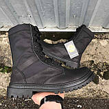 Берцы летние с быстрой шнуровкой черные, фото 4
