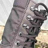 Берцы летние с быстрой шнуровкой черные, фото 6