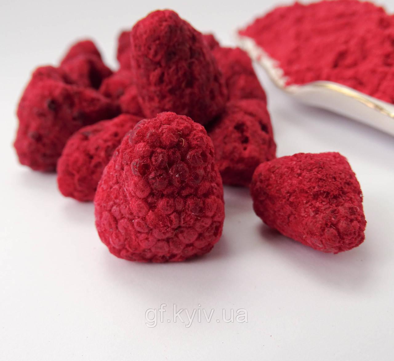 Малина целые ягоды 100г сублимированная, натуральная от украинского производителя