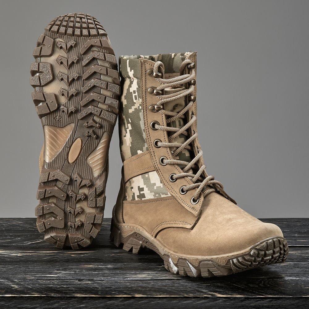 Обувь берцы летние коричневые Милитари