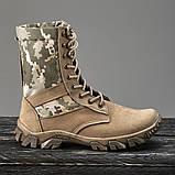 Обувь берцы летние коричневые Милитари, фото 2