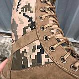 Обувь берцы летние коричневые Милитари, фото 5