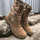 Обувь берцы летние коричневые Милитари, фото 6