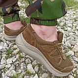 Кроссовки тактические коричневые С 3D СЕТКОЙ КОЙОТ, 36-46 размеры, фото 3