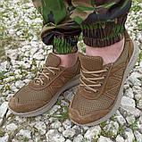 Кроссовки тактические коричневые С 3D СЕТКОЙ КОЙОТ, 36-46 размеры, фото 5