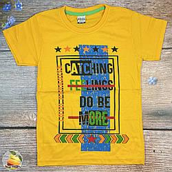 Жовта футболка для підлітка Розміри: 128,134,140,146,152 см (01924-1)