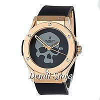Часы Hublot Skull Bang Mechanic Gold-Black - Grey