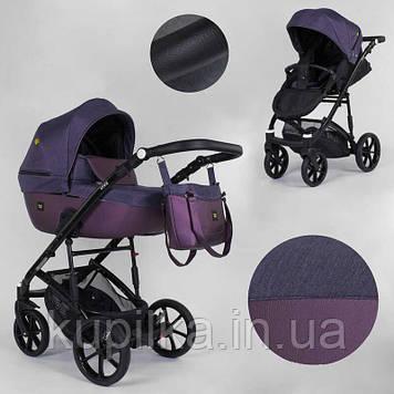 Коляска универсальная 2 в 1 для детей с рождения, с сумкой и большой корзиной Expander VIVA V-26883 цвет Plum