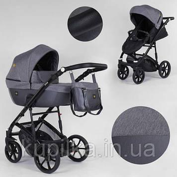 Универсальная детская коляска 2 в 1 с люлькой и прогулочным сиденьем Expander VIVA V-84622 цвет Anthracite